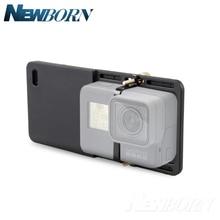 Adaptateur de cardan portable plaque de fixation du commutateur pour GoPro Hero 7 6 5 4 3 3 + Yi 4k caméra pour DJI Osmo Feiyu Zhiyun cardan Q lisse