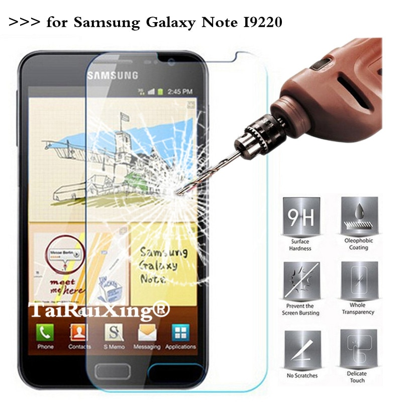 Protector de pantalla de vidrio templado 9H para Samsung Galaxy Note I9220...