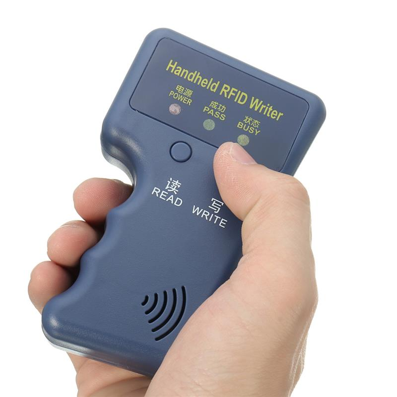 125KHz Prox RFID clonador duplicador programador de tarjeta copiadora lector escritor + 5 uds T5577 EM4305 llavero de ficha de llave grabable