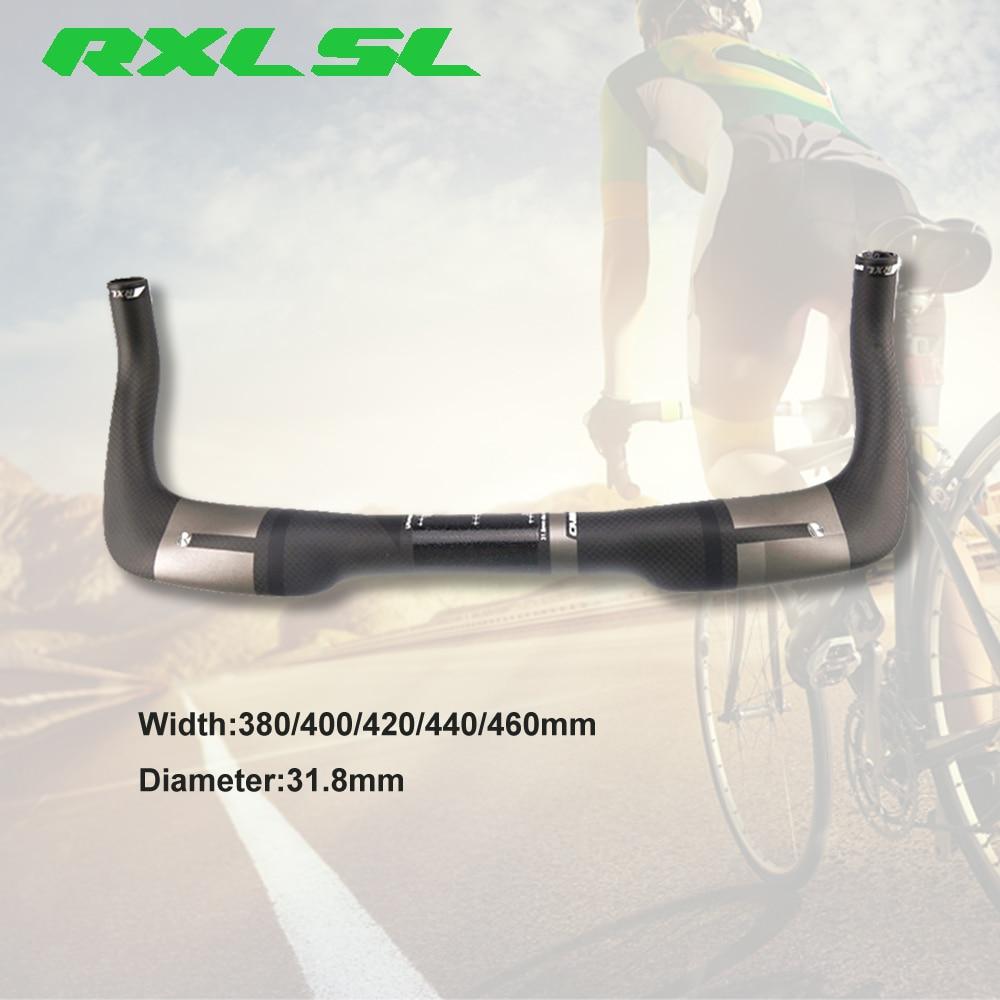 RXL SL bicicleta Aero manillar TT 400/420/440mm camino triatlón Bullhorn 3K mate gris fibra de carbono 31,8mm barras de descanso TT