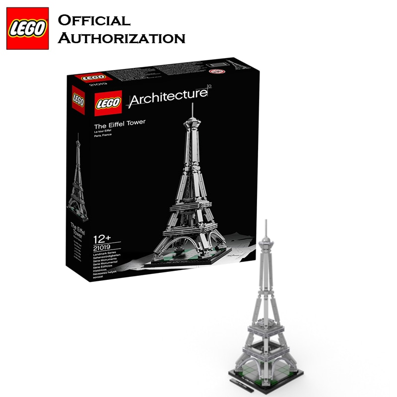 Lego Architecture Series 321 шт. строительные блоки игрушки Эйфелева башня строительные игрушки туристический сувенир для путешествий Brinquedos