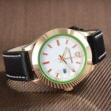 2018 SOUTHBERG Mannen Horloge Sport Fashion Horloge Montre Homme Lederen Relojes Hombre Quartz Mannelijke Business Horloge