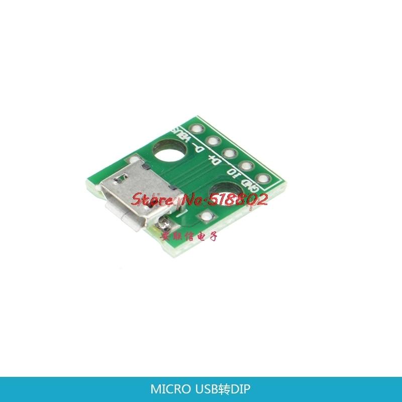 1 unids/lote adaptador USB a DIP 5 pines conector hembra B pcb convertidor pinboard 2,54 en Stock