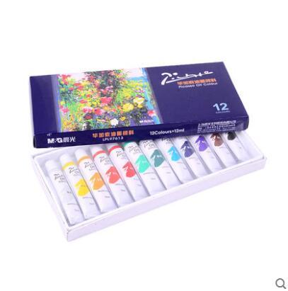 Набор масляных красок Пикассо, 12 цветов, студенческие принадлежности для покраски