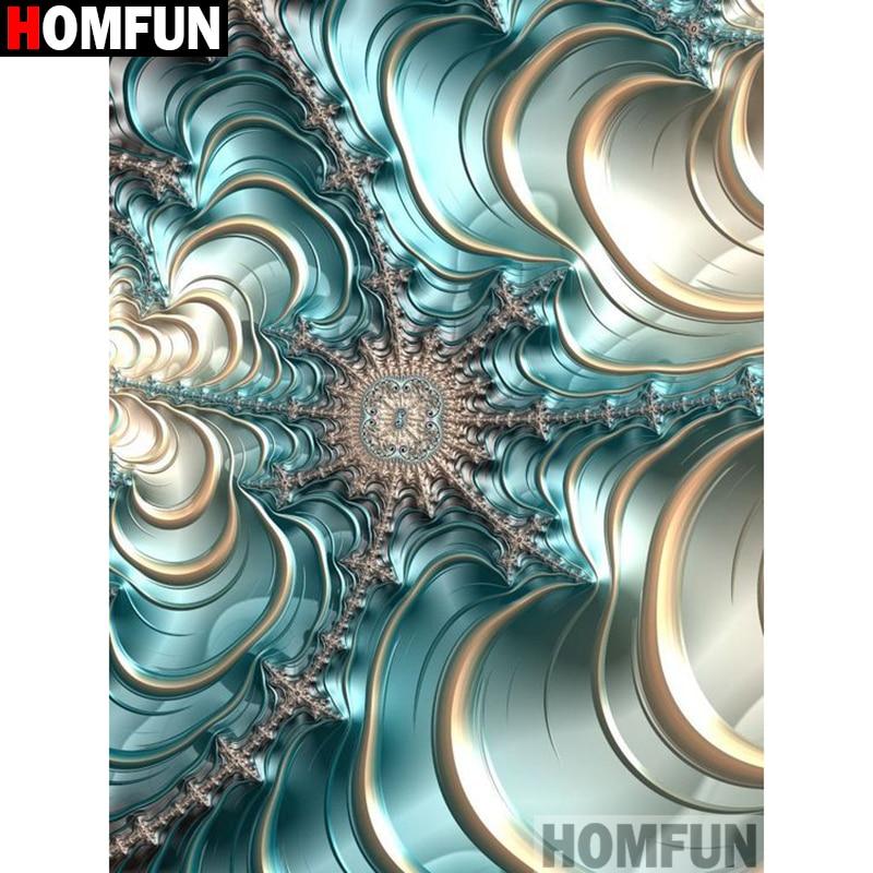 "HOMFUN taladro cuadrado/redondo completo 5D DIY pintura de diamante ""paisaje de flores"" 3D bordado punto de cruz 5D decoración del hogar A17126"