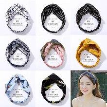 Fashion Plaid Knoten Stirnband Turban Elastische Haarband Kopf Wrap Haar Zubehör für Frauen Mädchen Gestreiften Headwear Zubehör