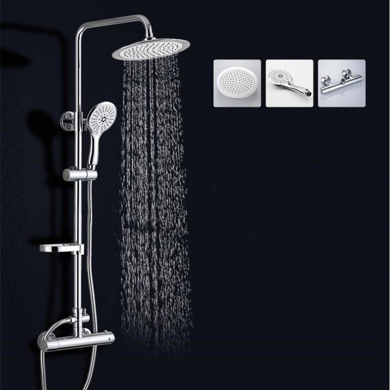 مجموعة حنفيات حمام من الكروم والنحاس ثرموستاتي
