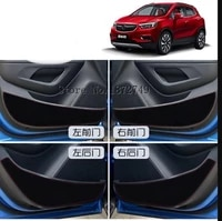 inner door protection protective pad kick pad 4pcs for buick encore 2012 2018