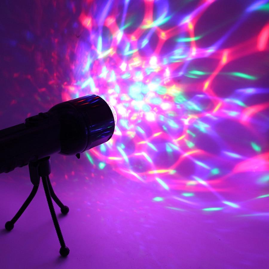 3W RGB Led Luz de escenario de DJ rotación automática proyector discoteca bola luces de fiesta Show DMX efecto de iluminación alimentado por batería