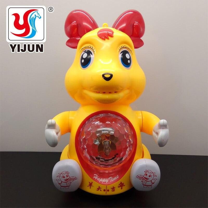 Детские игрушки, детские Мультяшные овцы, электрические игрушки, интерактивные электрические игрушки для домашних животных с музыкой и све...
