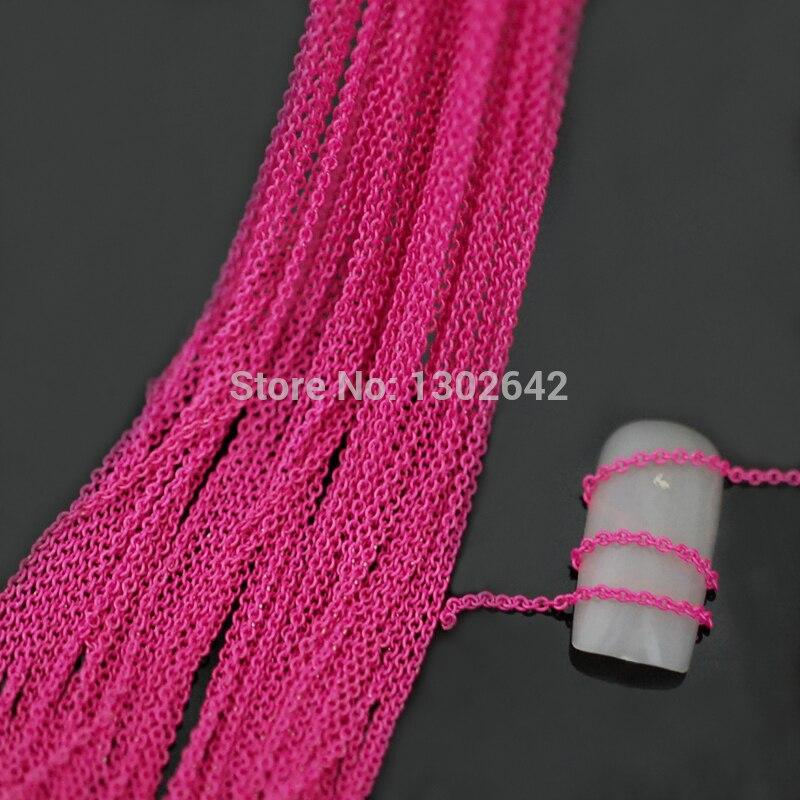 10m Rosa Metal cadena DIY Nail Art accesorios Nail Craft suministros