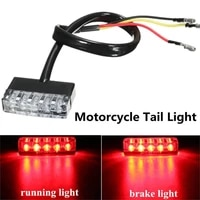 high power motorcycle scooter atv bike red rear tail 12v mini 5 led universal low consumption stop brake light lamp267655