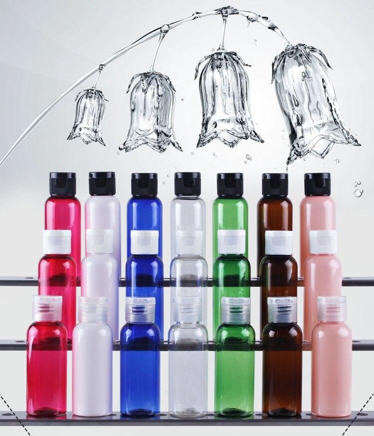 1000x contenedor hidratante tapa abatible Perfume portátil viaje maquillaje 50ml difusor de fragancia botellas vacías PET Champú Líquido