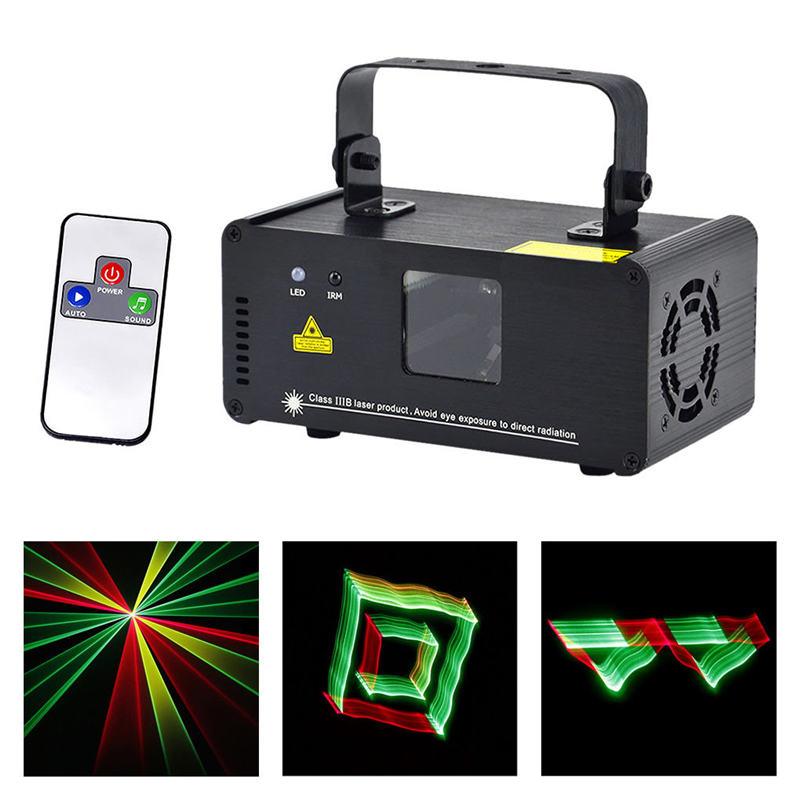 Mini 3D efecto 250mw RGY láser DPSS escáner de luces inalámbrico remoto DMX PRO DJ fiesta en casa escenario iluminación sistema 3D-RGY250