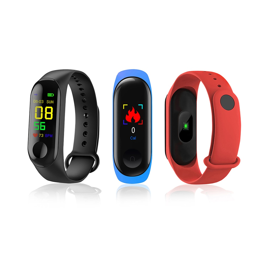 M3plus Smart Band Watch Color Screen Wristband Heart Rate Activity Fitness tracker Smart Electronics Bracelet