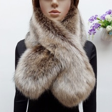 new arrival winter faux raccoon fur scarf fake fox fur muffler women faux fur collar colorful patchwork scarf eco-friendly