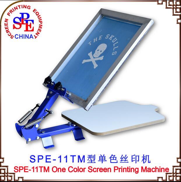 Tela tela 11TM única cor máquina de impressão de equipamentos de impressão imprensa um ecrã a cores de tela de imprensa sobre a mesa