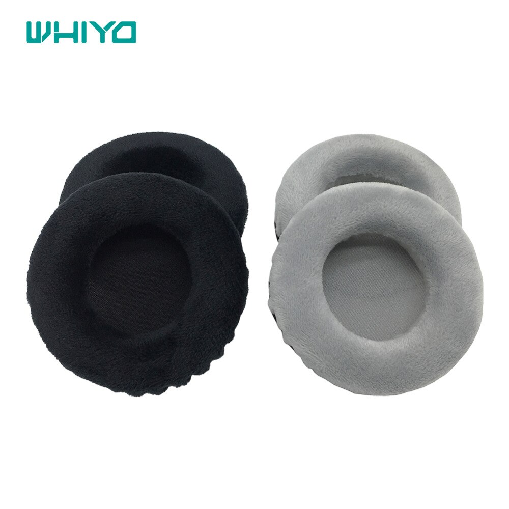 Whiyo 1 Pair of Velvet Leather Ear Pads Cushion Cover Earpads Replacement Cups for Bluedio T3 / T3 Plus Headset