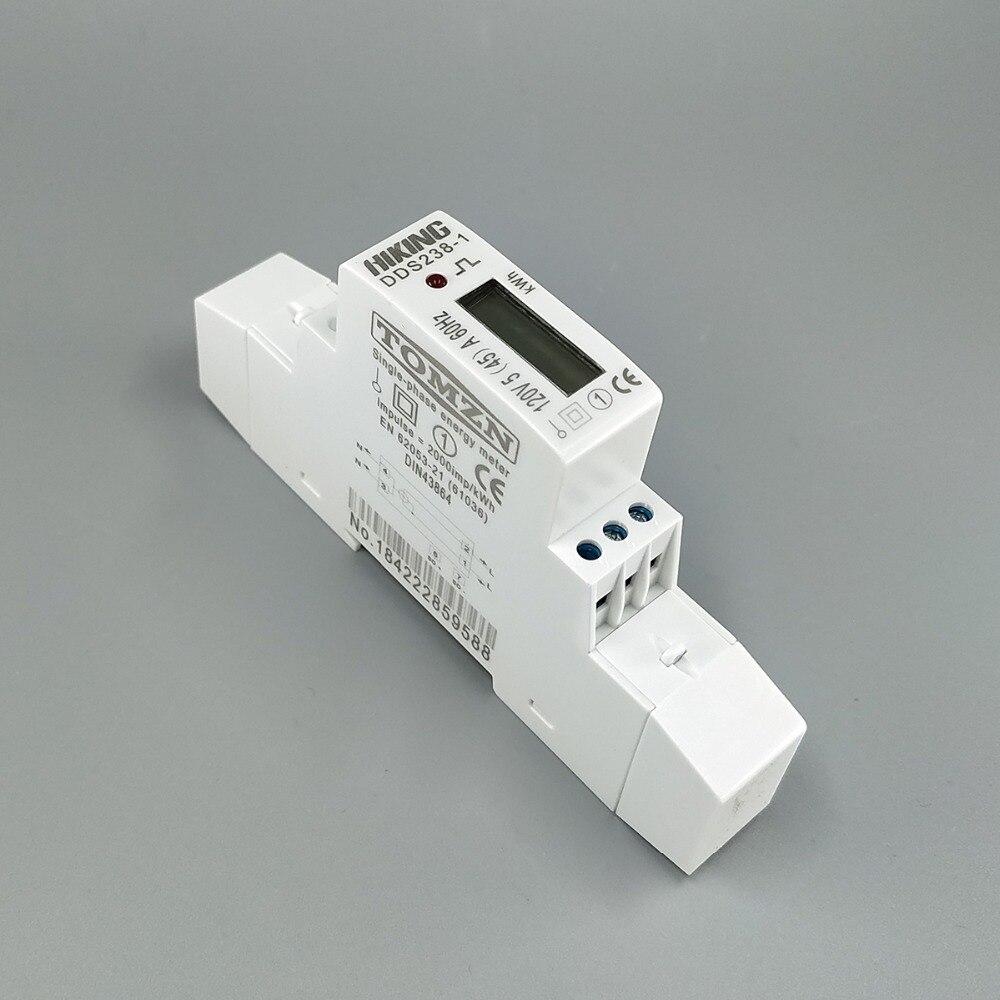 5 (45) A 45A 120В 60Гц однофазный din-рейка кВт/ч Ватт час din-рейка счетчик энергии ЖК
