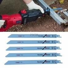 """S1122BF pistonlu saber testere bıçakları 227mm 9 """"Metal ve ahşap için kesme 5 adet/takım J13"""