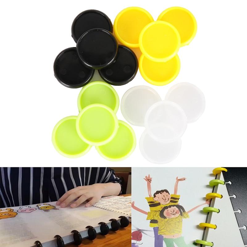 10 unids/pack Multicolor de agujero disco vinculante suelto libro vinculante anillo disco arco vinculante cuaderno arco suministros de oficina