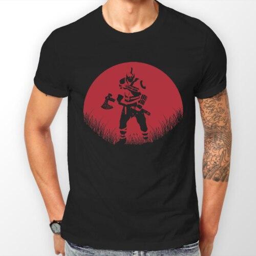 Kratos, dios de la guerra 4 rojo Luna GOW PS4 Gamer camiseta Unisex camiseta todos los tamaños Casual orgullo t camisa de los hombres Unisex nuevo