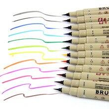 12 colors Drawing Artist Soft Brush Pen Sketch Marker For School Children Stationery Watercolor Design Paints Art Supplie