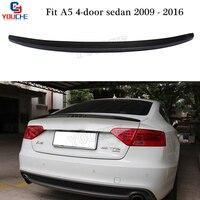 S5 Style Carbon Fiber Rear Spoiler Wing for Audi A5 4-door Sedan Sportback 2009 - 2016 Boot Trunk Lid Tail Spoiler