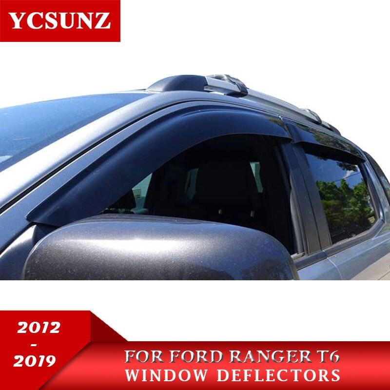 Deflectores de ventana de coche para Ford Ranger T6 T7 T8 150 CV 2012-2019