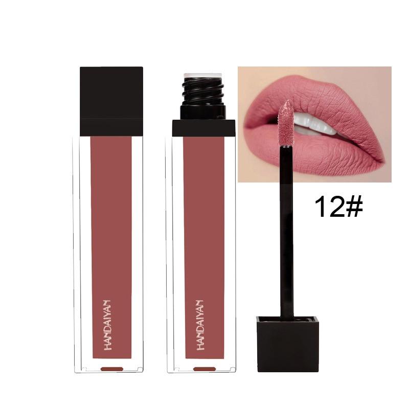 Waterproof shimmer & matte Lip gloss HANDAIYAN cosmetics long lasting moisturizer liquid lipsticks 240pcs/lot DHL Free