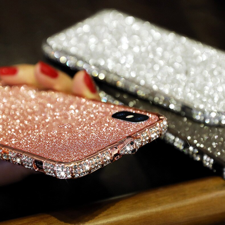 Роскошная блестящая Передняя пленка для iphone XR XS max 8 7 6 6s plus, блестящая Защитная пленка для iphone