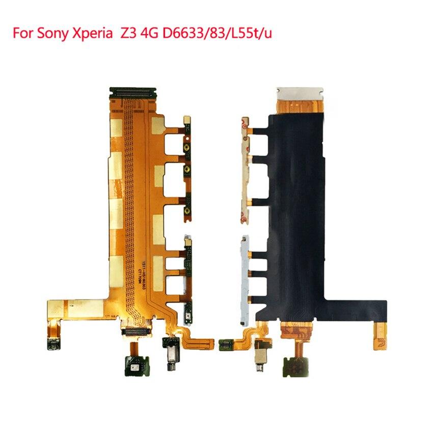 Para Sony Xperia Z3 Versión 4G Flex Cable botones laterales micrófono vibrador