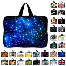 7 10 12 13 13.3 14 15 17 17.3 inch Purple Butterfly laptop bag netbook sleeve case with handle compu