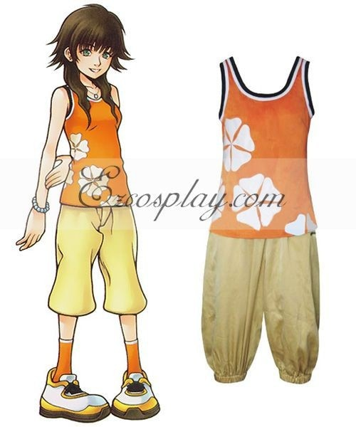 Kingdom Hearts 2 Olette Cosplay Costume E001