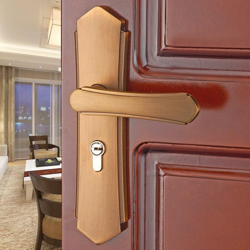 الأوروبي الباب قفل داخلي الحمام غرفة نوم الباب قفل العالمي الصلبة سبائك الألومنيوم مقبض الباب