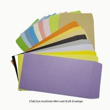 Carte postale 100 pièces In/ 17x8.5cm coloré Mini enveloppe Kraft universel Standard chinois rétro bricolage pour espèces/cartes/lettres/cadeaux