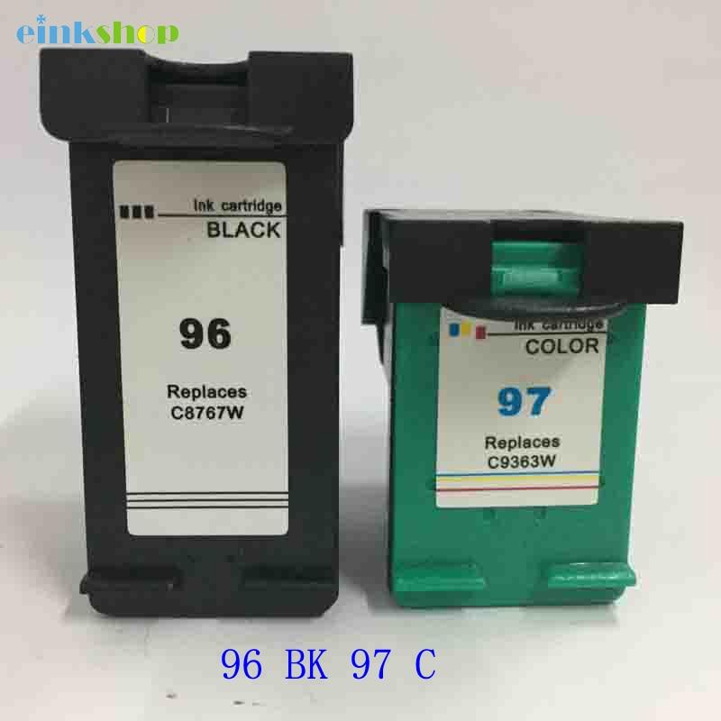 Einkshop compatible con reemplazo de cartucho de tinta para HP 96 97 Deskjet serie 5740, 5940, 6520, 6940, 6980 Photosmart 2610 2710 impresora 8150