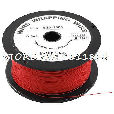 PCB soldar rojo Flexible 0,25mm Core Dia 30AWG envoltura de alambre 1000Ft