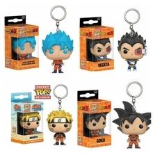 Porte-clés boule de Dragon Q Version poupée porte-clés Pop Goku végéta Super Saiyan Goku protecteur de clé cadeau pour les Fans