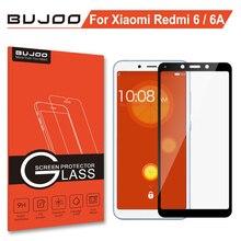 100% Originele BUJOO Real 2.5D Volledige Cover Gehard Glas Voor Xiaomi Redmi 6 Screen Protector Xiomi Redmi 6A 0.3mm 9 H Film