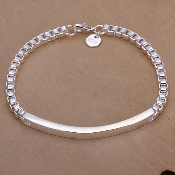 Couleur-argent exquis bracelet mode charme mignon chaîne femmes dame bijoux modèles bijoux personnalisés cadeau danniversaire H079