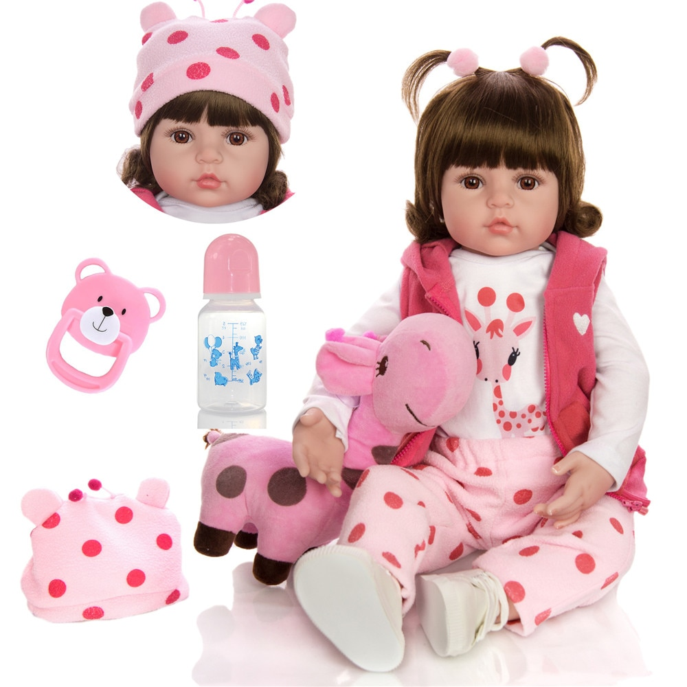 Latest new 58cm Silicone Reborn Baby Dolls Boneca Reborn Realista Fashion Dolls For Princess Children Birthday Gift Bebes Reborn