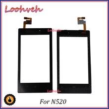 Alta calidad 4,0 para Nokia Lumia 520 N520 Panel de pantalla táctil digitalizador lente de cristal exterior