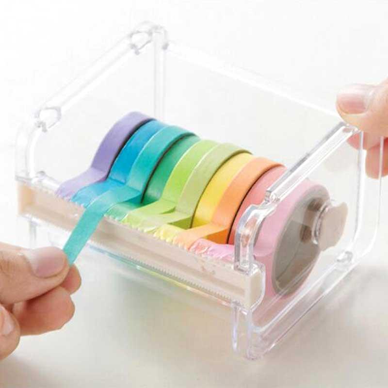 1 Uds dispensador de cinta transparente Washi Tape Cutter organizador de almacenamiento colgante de escritorio dispensador estudiante escuela Oficina papelería