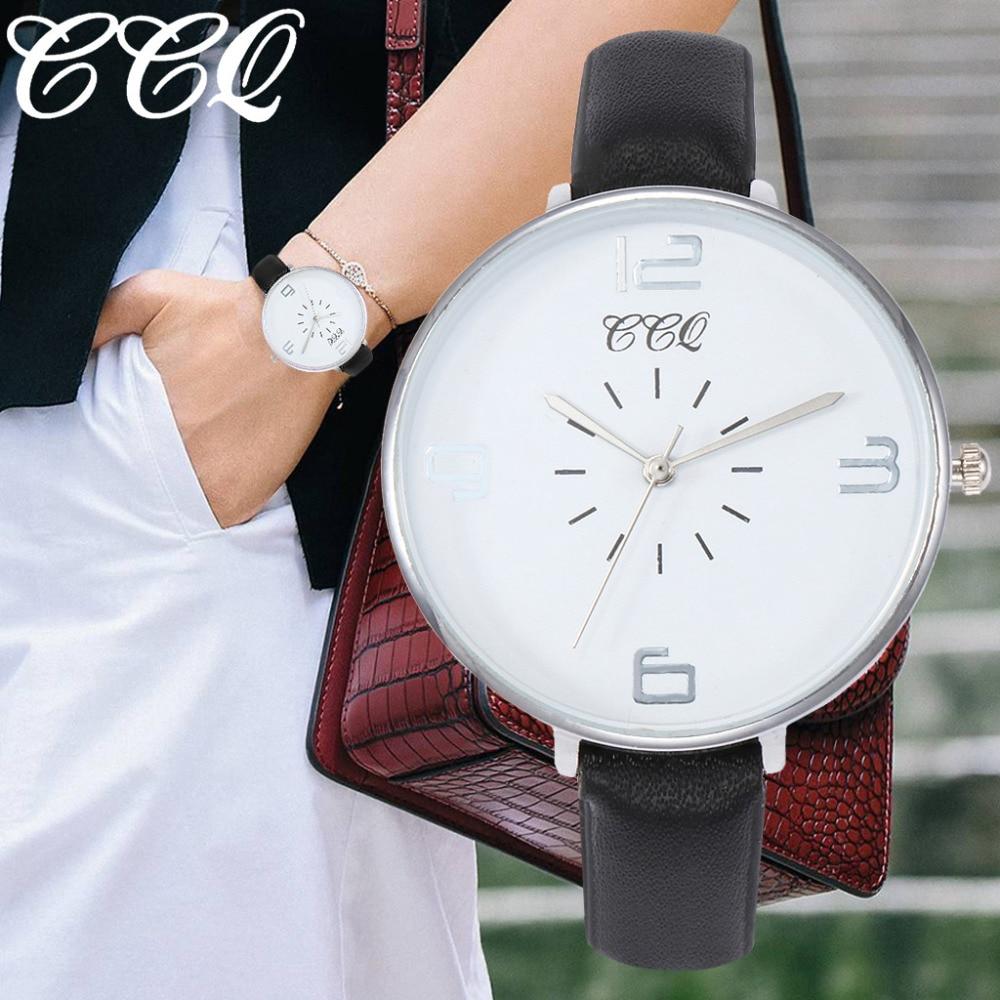 Womens Large Dial Quartz Leather Band Watches Luxury Womens Female Casual Newv Strap Watch Analog Wristwatch Relogio Feminino