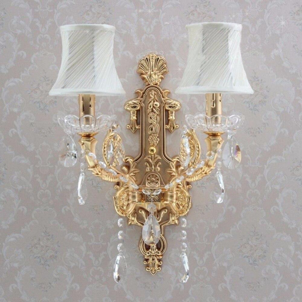 LED الذهب الجدار الشمعدان الحمام الجدار مصباح مرآة ضوء للحمام الصناعية الجدار ضوء مصابيح الحائط الكلاسيكية إضاءة غرفة النوم