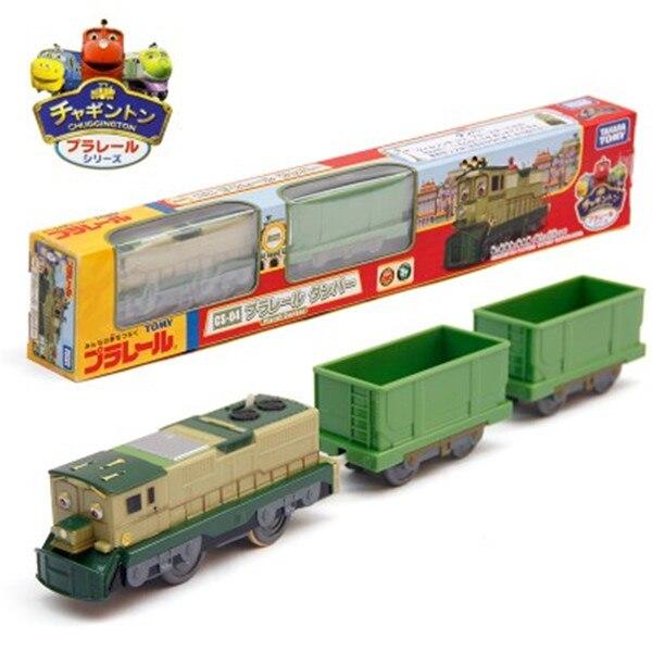 Nova marca Takara Tomy Plarail Chuggington Dunbar CS-04 Motorizada Elétrica Trem de Brinquedo