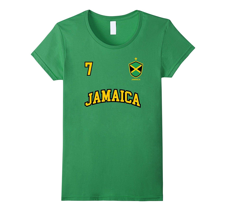 2019 camisetas para hombres de algodón estilo de verano Jamaica camisa número 7 Back Soccers Team Sporter jamaicano fútbol Americano bandera o-cuello camiseta
