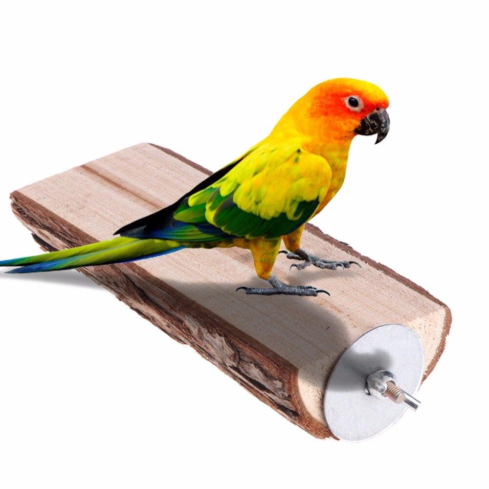 Попугай жердочка для птицы игрушка деревянная подставка держатель платформа Белка Шиншилла Хомяк стойка клетка Игрушка аксессуары Принадлежности для птиц C42