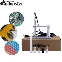 Andonstar 2MP USB Microscope numérique 500x8 LED usb Microscope vidéo caméra support usb loupe